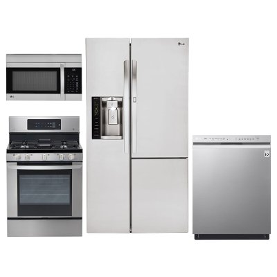 Kitchen Suites Gas Lg 4 piece gas appliance kitchen package stainless steel rc kit lg 4 piece gas appliance kitchen package stainless steel workwithnaturefo