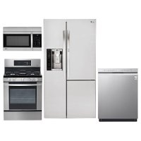Lg 4 Piece Kitchen Appliance Package With Gas Range And