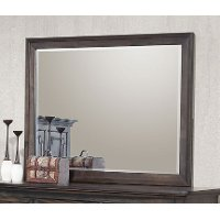 Classic Traditional Antique Brown Mirror - Campbell