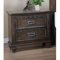 Classic Traditional Antique Brown Nightstand - Campbell