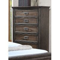 Classic Traditional Antique Brown Chest of Drawers - Campbell