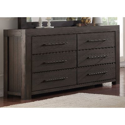 Basalt Gray Casual Classic Dresser - Heath