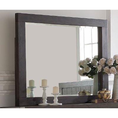 Basalt Gray Casual Classic Mirror - Heath