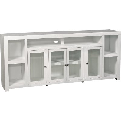 84 Inch White TV Stand - Brooklyn   RC Willey Furniture Store