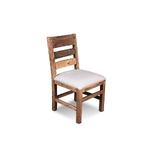 Clearance Pine Upholstered Dining Chair