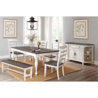 Merveilleux Two Tone French Country 6 Piece Dining Set   Bourbon County
