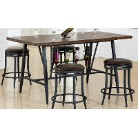 Brown and Gray Metal Dining Table - David