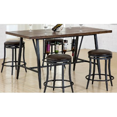 Brown and Metal Dining Table - David | RC Willey Furniture Store