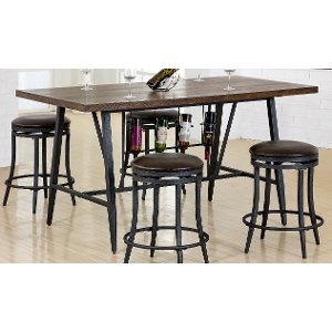 ... Brown And Metal Dining Table   David Collection