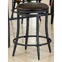 Brown and Metal 24 Inch Counter Height Stool - David