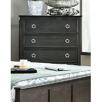 Brushed Black Contemporary Chest of Drawers - Classic