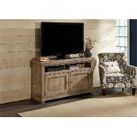 54 Inch Distressed Grey TV Stand - Willow