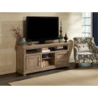 64 Inch Distressed Gray TV Stand - Willow