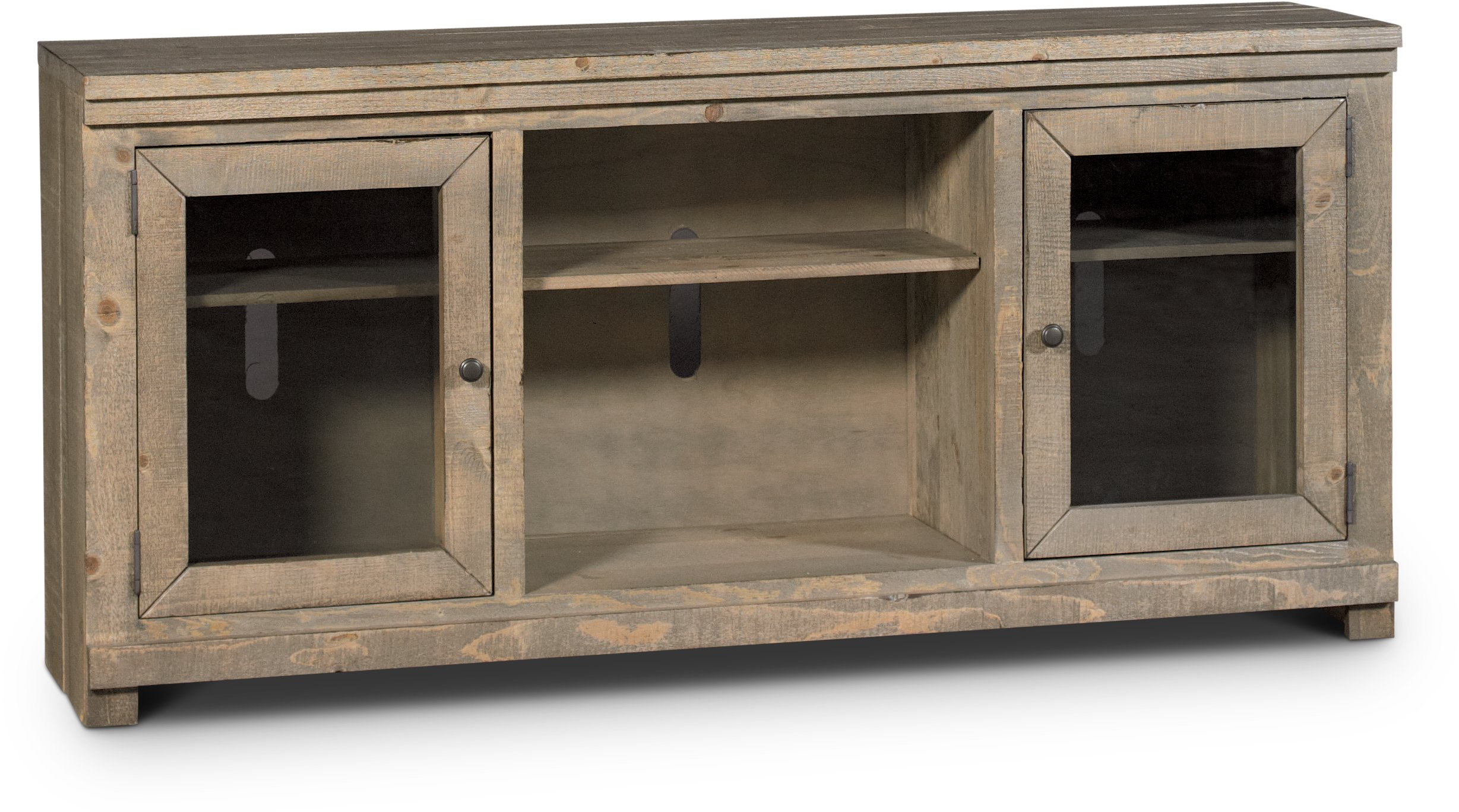 68 Inch Distressed Gray Brown TV Stand   Willow