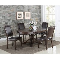 Tobacco 5 Piece Dining Set - Montreal