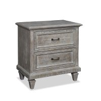 Casual Rustic Gray Nightstand - Dovetail