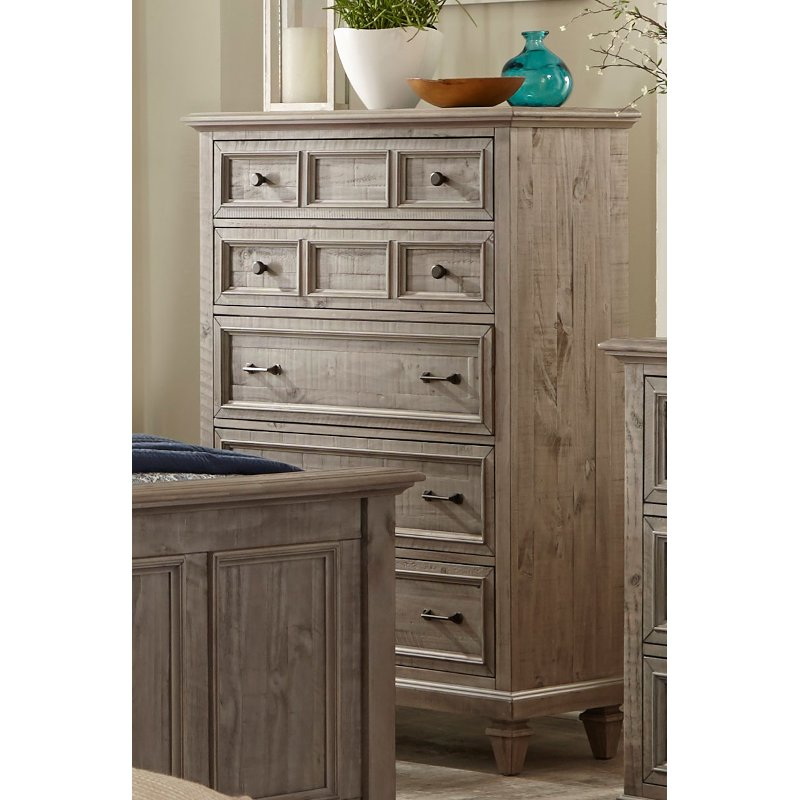 Casual Rustic Gray Chest Of Drawers Dovetail