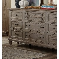Casual Rustic Gray Dresser - Dovetail