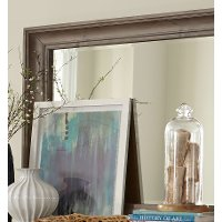 Casual Rustic Gray Mirror - Dovetail