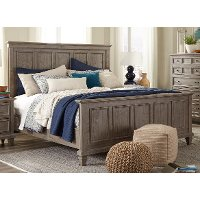 Casual Rustic Gray Queen Bed - Dovetail