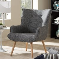 Grey Mid-Century Upholstered Armchair - Nola