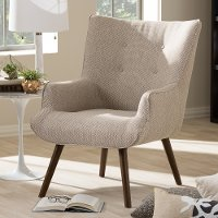 Taupe Mid-Century Upholstered Armchair - Nola