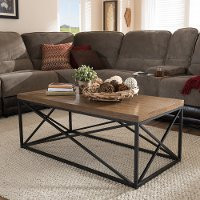 7328-RCW Vintage Industrial Coffee Table - Holden