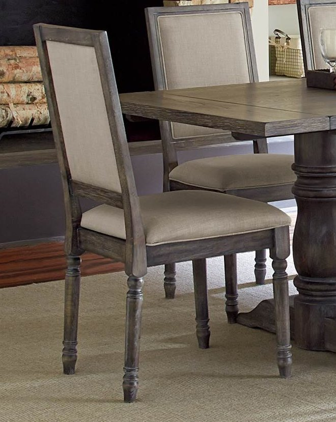 Dove Gray Wood Frame Dining Chair