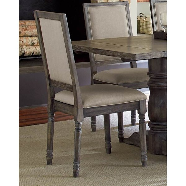 Dove Gray Wood Frame Dining Chair Muses