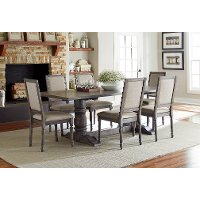 Dove Gray 5 Piece Dining with Side Chair - Muses