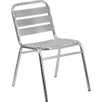 Commercial Aluminum Armless Stack Chair