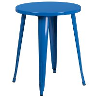 Blue Metal 24 Inch Cafe Round Indoor-Outdoor Table