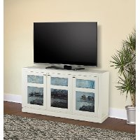 65 Inch White TV Stand - Skyline