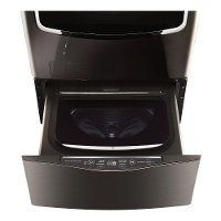 WD205CK LG Signature Pedestal Washer - Black Stainless Steel