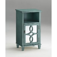 Antique Aqua Blue End Table - Maisie