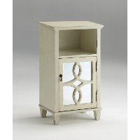 Antique Ivory White End Table - Maisie
