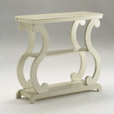 Modern Contemporary Ivory Accent Table   Lucy