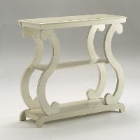 Modern Contemporary Ivory White End Table - Lucy