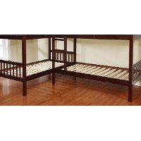 Dark Walnut Double Twin Over Twin Bunk Bed With Trundle Marquette