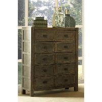 Classic Gray-Brown Chest of Drawers - Beckham
