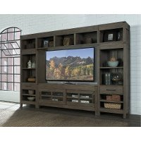 KIT Tan 4 Piece Modern Entertainment Center - St. Croix