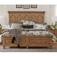 Wheat Pine Rustic Traditional King Storage Bed - Graham Hill