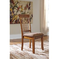 Set of 2 Rustic Upholstered Dining Chairs - Berringer