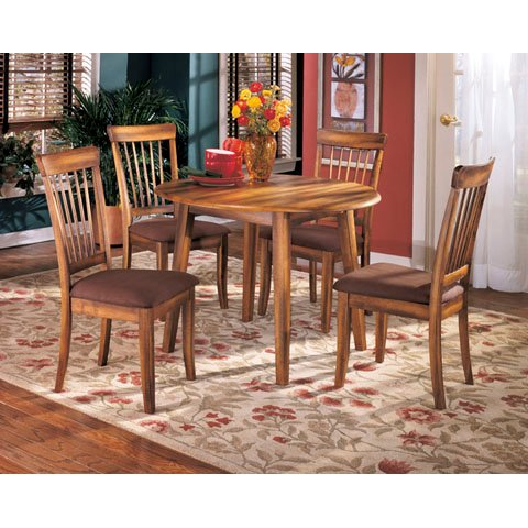 Rustic Drop Leaf Round Dining Table - Berringer