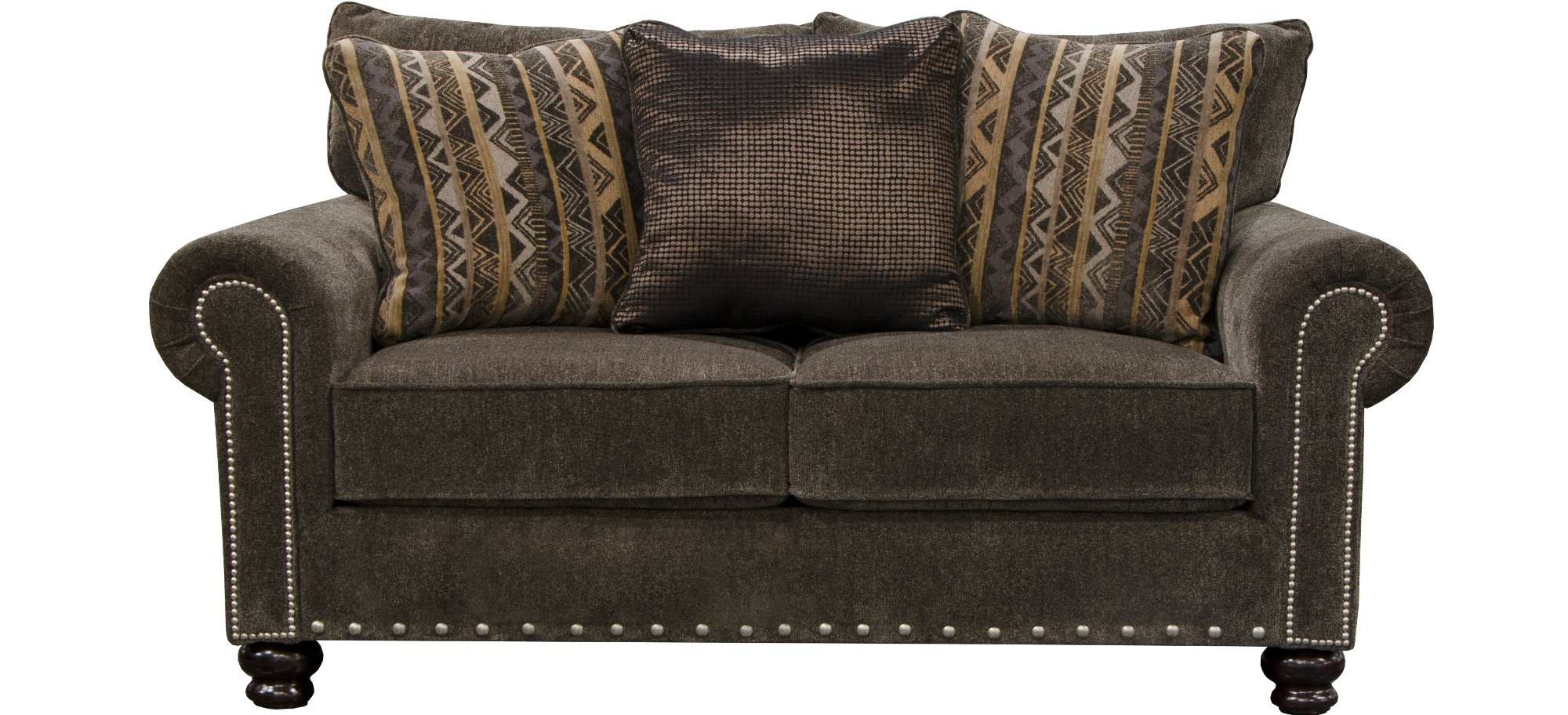 Traditional Tiger 39 S Eye Brown Sofa Loveseat Set Avery Rc Willey Furniture Store