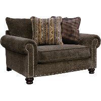 Traditional Tiger's Eye Brown Chair - Avery