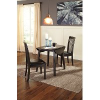 D310-15 Contemporary Drop Leaf Round Dining Table - Hammmis