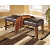 Contemporary Upholstered Dining Bench - Lacey