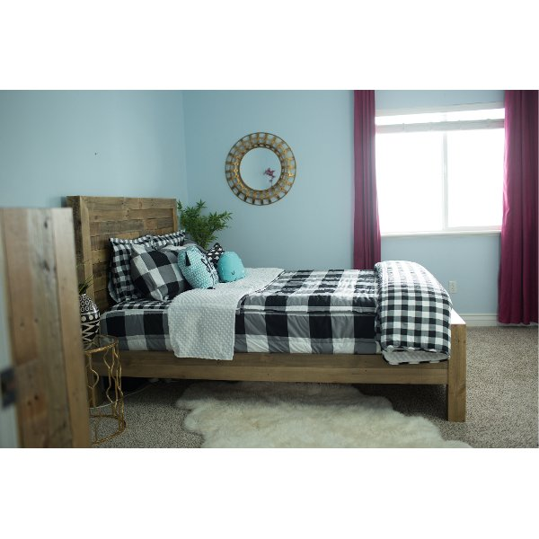Beddy S Queen Black And White Checked Out Bedding Collection
