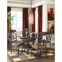 D329-15 Traditional Round Dining Table - Glambrey